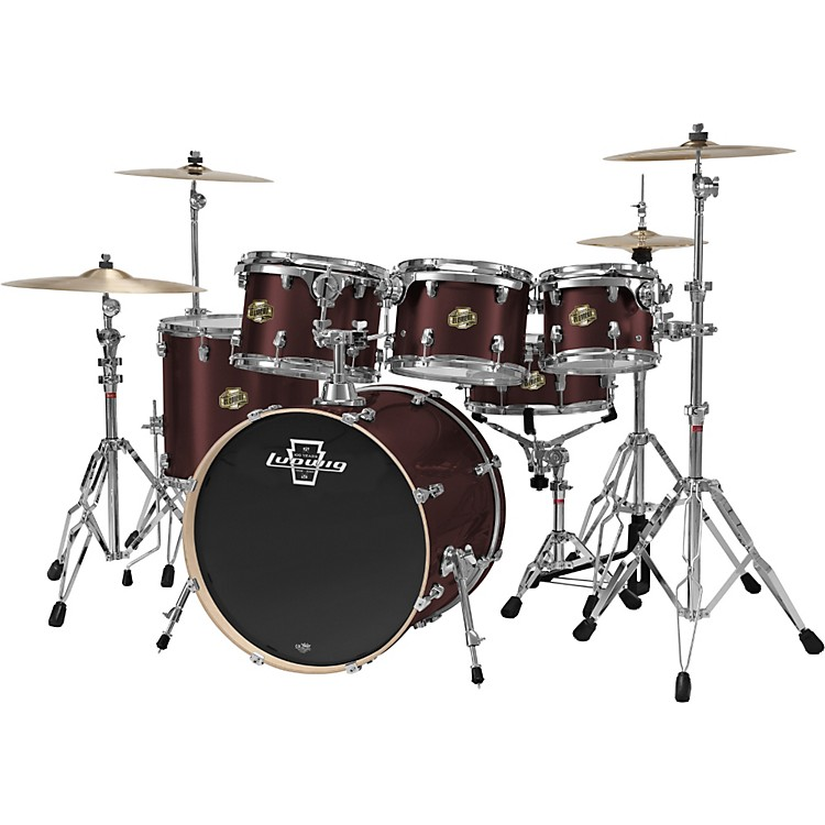 Ludwig Element 5-Piece Power Shell Pack With Free 10x8 Tom