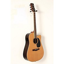 Mitchell Element Series ME2CEC Dreadnought Cutaway Acoustic-Electric Guitar Level 2 Natural, Indian Rosewood back/sides, Solid Red Cedar top 190839031716