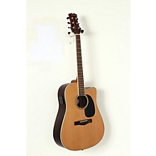 Mitchell Element Series ME2CEC Dreadnought Cutaway Acoustic-Electric Guitar Level 2 Natural, Indian Rosewood back/sides, Solid Red Cedar top 190839047588