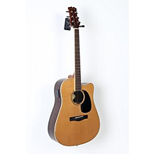 Mitchell Element Series ME2CEC Dreadnought Cutaway Acoustic-Electric Guitar Level 3 Natural, Indian Rosewood back/sides, Solid Red Cedar top 190839028495