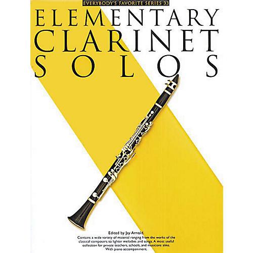 Music Sales Elementary Clarinet Solos (Everybody's Favorite Series, Volume 33) Music Sales America Series-thumbnail