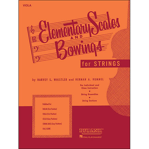 Hal Leonard Elementary Scales And Bowings - Viola-thumbnail