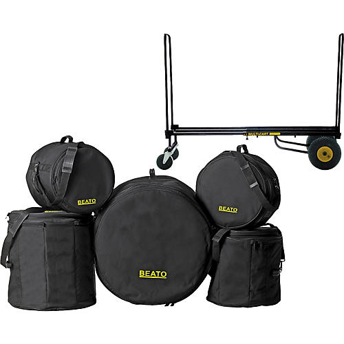 Gear One Elite Drummer Rock n Roller Cart & Beato Bag Set (Fusion)-thumbnail