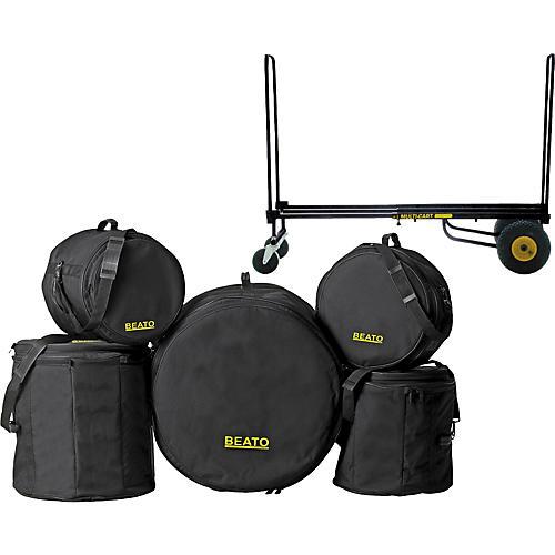 Gear One Elite Drummer Rock n Roller Cart & Beato Bag Set (Fusion)