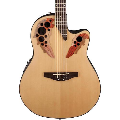 Applause Elite Mid-Depth Bowl Acoustic-Electric Guitar Natural