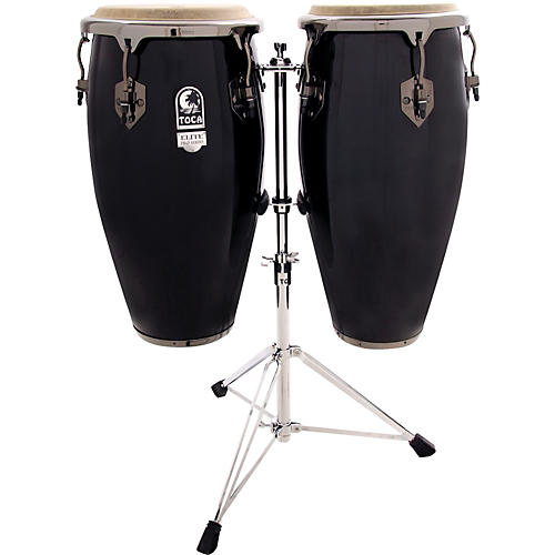 Toca Elite Pro Fiberglass Congas with Stand-thumbnail