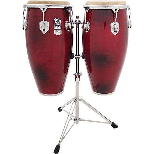 Toca Elite Pro Wood Conga Set with Stand-thumbnail