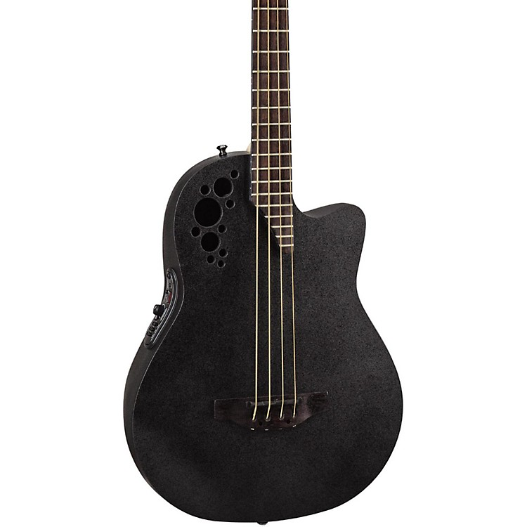 Ovation Elite TX Mid Depth Acoustic-Electric Bass Black