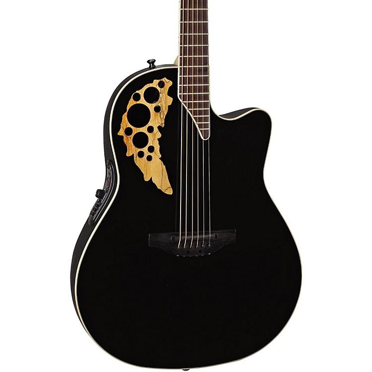 OvationElite TX Mid Depth Cutaway Acoustic-Electric GuitarBlack