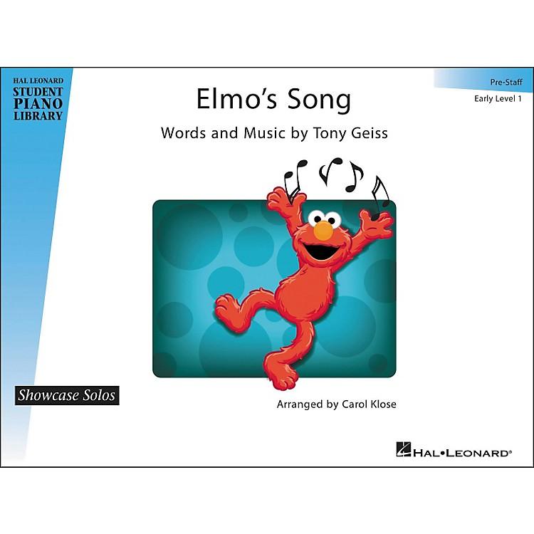 Hal LeonardElmo's Song - Showcase Solo Early Level 1 Pre-Staff Hal Leonard Student Piano Library by Carol Klose