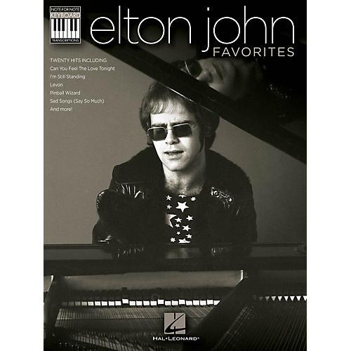 Hal Leonard Elton John Favorites Keyboard Book - Note-For-Note Keyboard Transcriptions