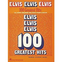 Hal Leonard Elvis Elvis Elvis 100 Greatest Hits Piano, Vocal, Guitar Songbook
