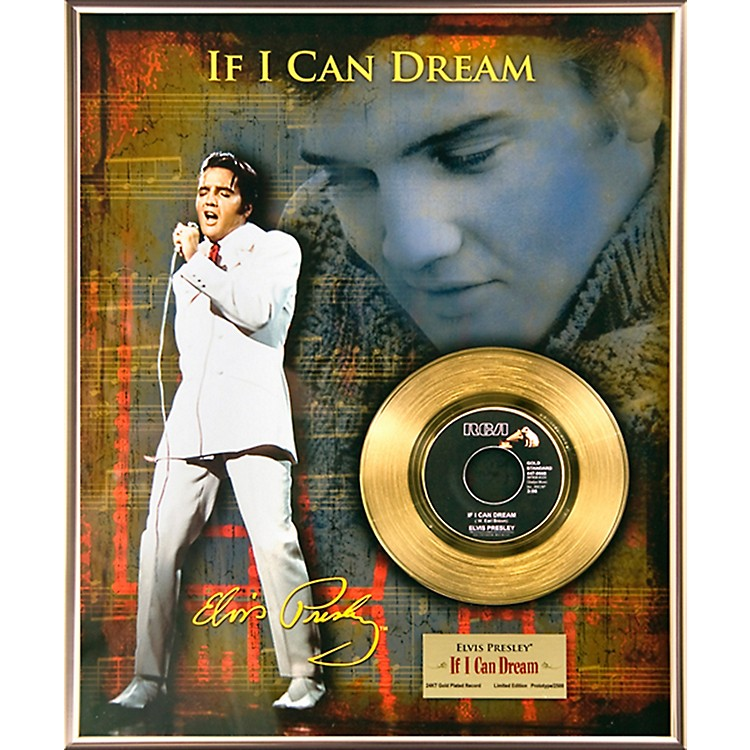 24 Kt. Gold RecordsElvis Presley - If I Can Dream Gold 45 Limited Edition of 2500