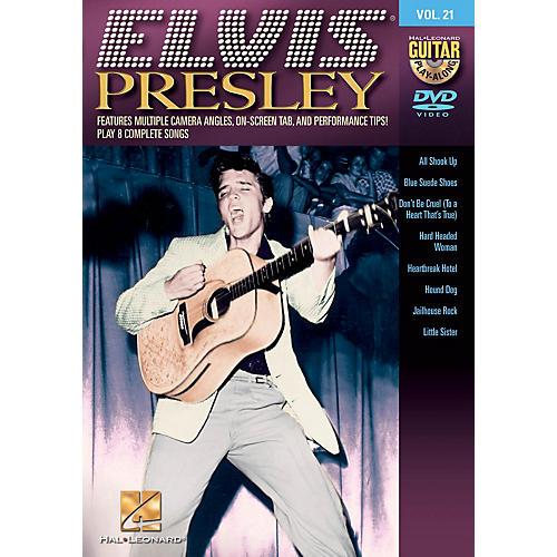Hal Leonard Elvis Presley (Guitar Play-Along DVD Volume 21) Guitar Play-Along DVD Series DVD by Elvis Presley-thumbnail
