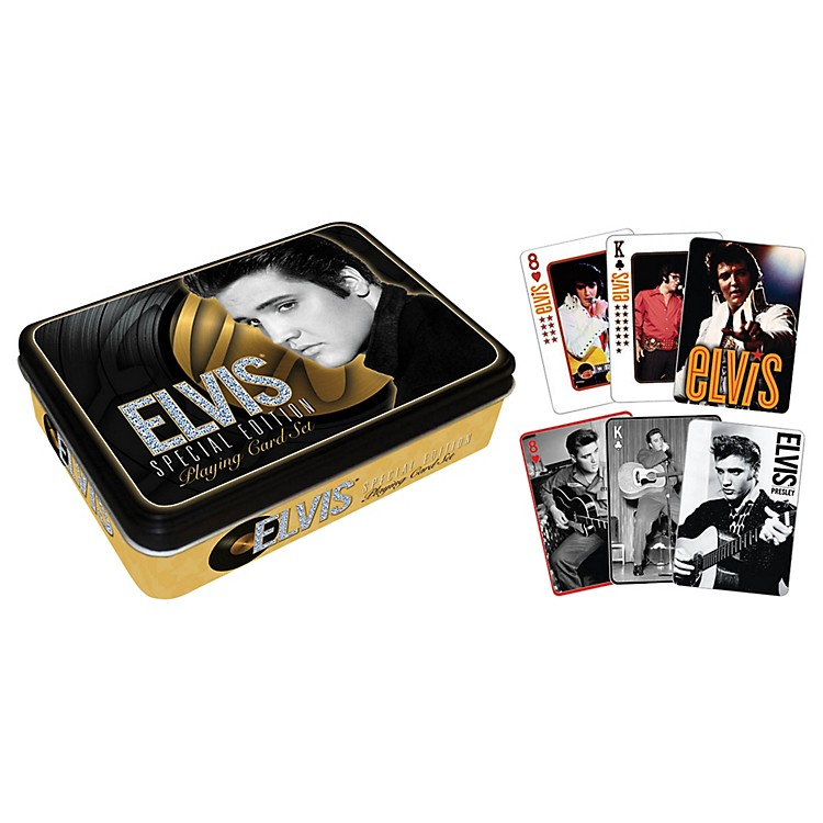 Hal Leonard Elvis Presley Playing Cards 2-Deck Set Gift Tin