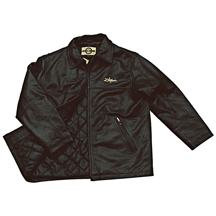 Zildjian Embroidered Logo Leather Jacket