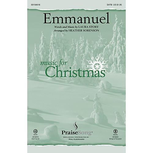 PraiseSong Emmanuel SATB by Laura Story arranged by Heather Sorenson-thumbnail