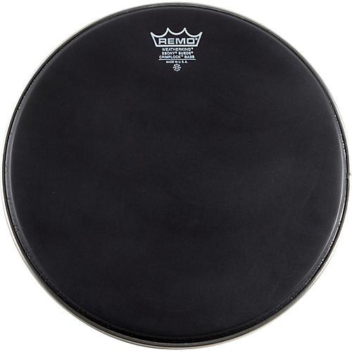 Remo Emperor Ebony Suede Crimplock Marching Bass Drumhead Black Suede 14