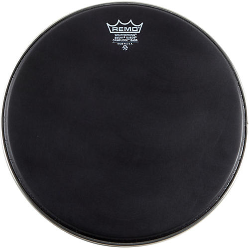Remo Emperor Ebony Suede Crimplock Marching Bass Drumhead-thumbnail