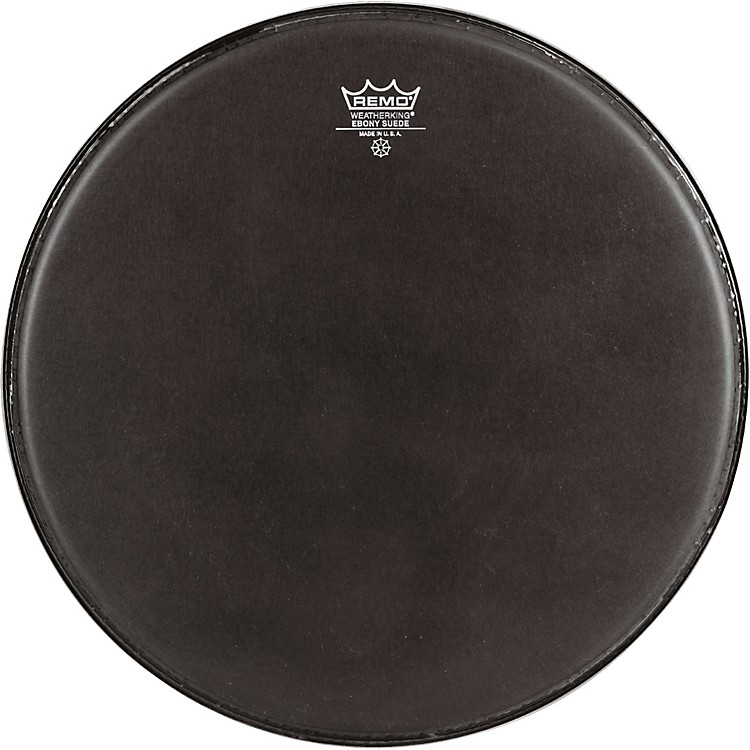 Remo Emperor Ebony Suede Marching Bass Drumhead Black Suede 32