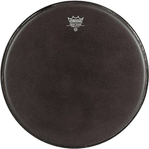 Remo Emperor Ebony Suede Marching Bass Drumhead Black Suede 16