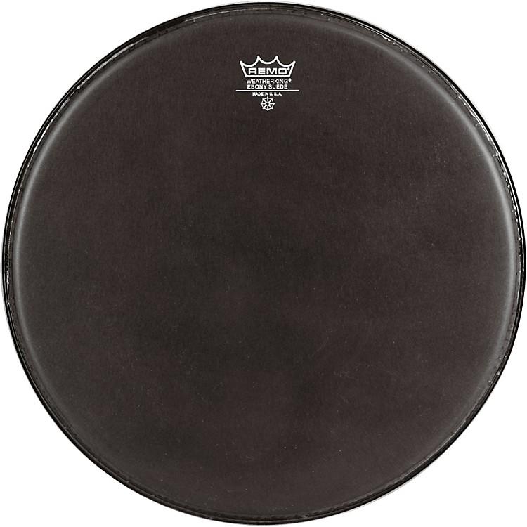 RemoEmperor Ebony Suede Marching Bass DrumheadBlack Suede18