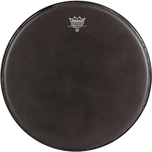 Remo Emperor Ebony Suede Marching Bass Drumhead Black Suede 24