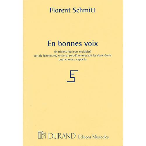 Editions Durand En bonnes voix (for 3 voices a cappella) SSA Composed by Florent Schmitt-thumbnail