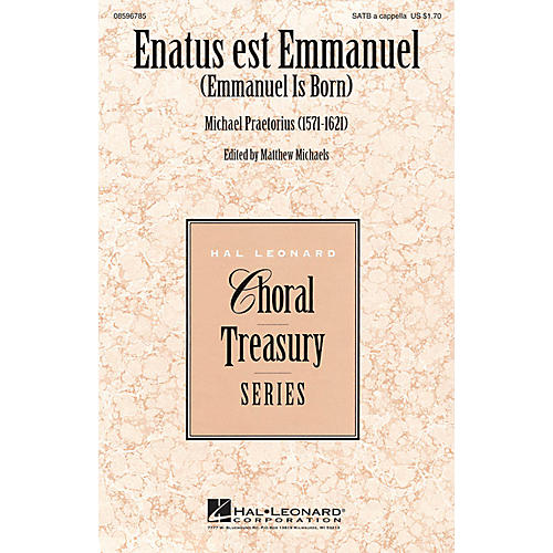 Hal Leonard Enatus est Emmanuel (Emmanuel Is Born) SATB a cappella composed by Michael Praetorius-thumbnail