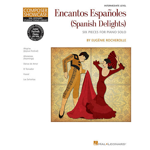 Hal Leonard Encantos Españoles (Spanish Delights) Piano Library Series Book by Eugénie Rocherolle (Intermediate)-thumbnail