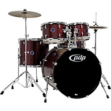 PDP by DW Encore By PDP 5-Piece Drum Kit with Hardware and Cymbals Ruby Red
