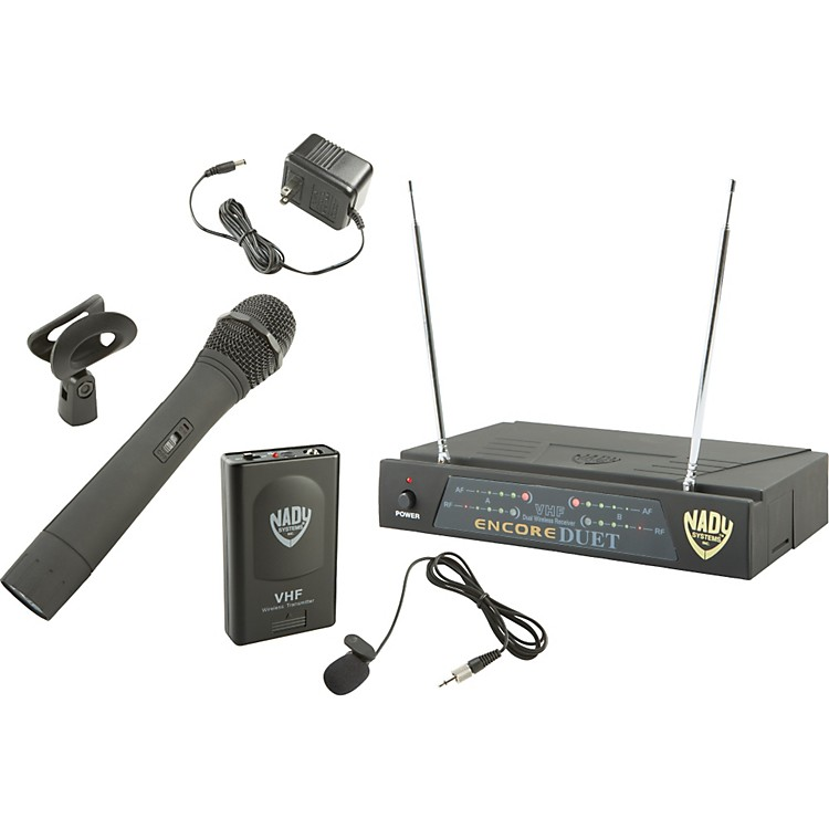 Nady Encore DUET HT/LT/O Combo Wireless System Ch P&R