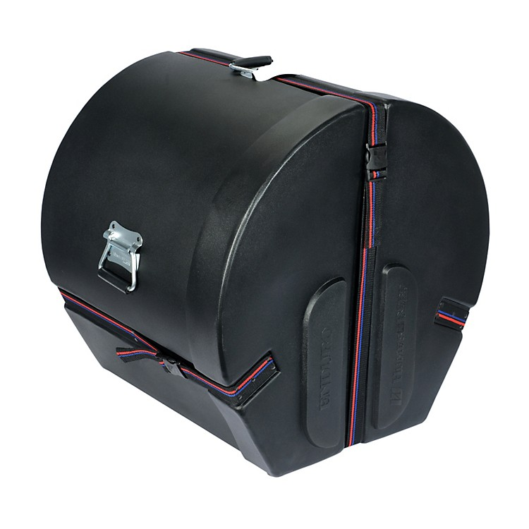 Humes & Berg Enduro Bass Drum Case with Foam Black 16x18