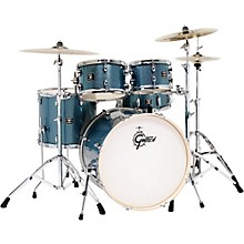 Gretsch Drums Energy 5-Piece Drum Set Blue Sparkle with Hardware and Zildjian Cymbals