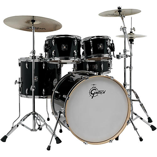 Gretsch Drums Energy VB 5-Piece Drum Set with Zildjian Cymbals Black