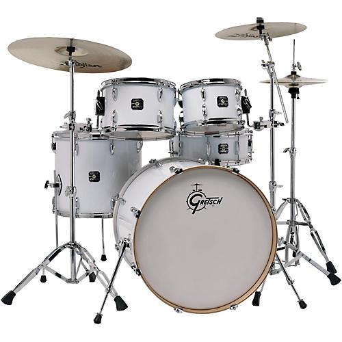 Gretsch Drums Energy VB 5-Piece Drum Set with Zildjian Cymbals White