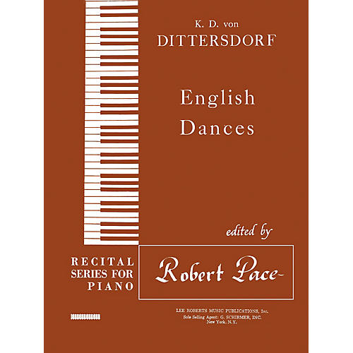 Lee Roberts English Dances Pace Piano Education Series Composed by Karl Ditters von Dittersdorf