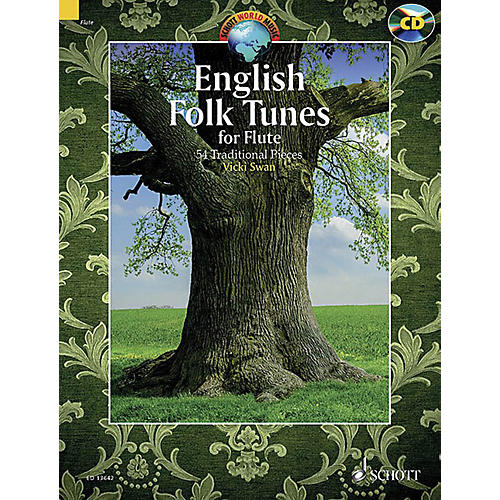 Schott English Folk Tunes for Flute (54 Traditional Pieces) Woodwind Solo Series Softcover with CD-thumbnail