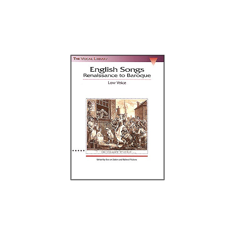 Hal Leonard English Songs - Renaissance To Baroque for Low Voice (The Vocal Library Series)