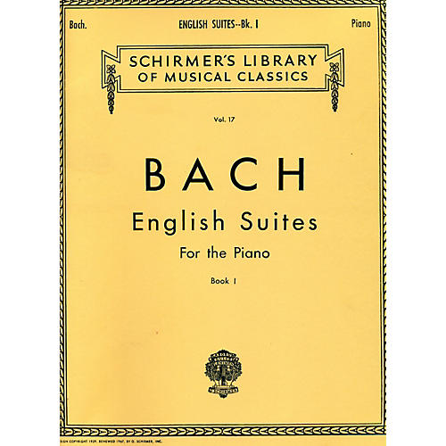G. Schirmer English Suites for Piano Book 1 By Bach-thumbnail