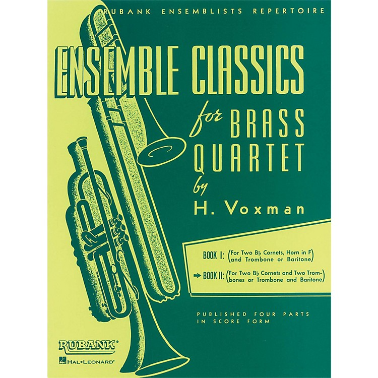 Hal LeonardEnsemble Classics Series Brass Quartets Vol 2 Two Cornets, Trombone, And 2nd Trombone