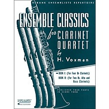 Hal Leonard Ensemble Classics Series Clarinet Quartet Book I for B Flats