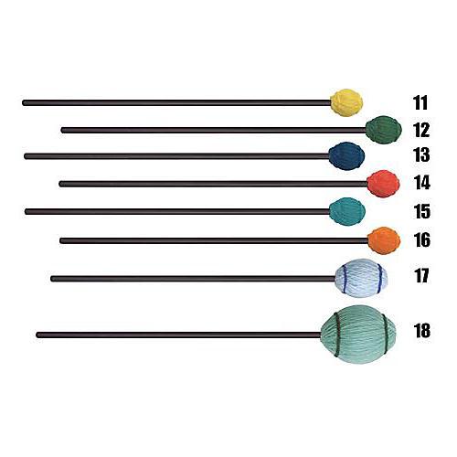 Mike Balter Ensemble Series Black Birch Marimba Mallets 12 Green Yarn Medium Hard