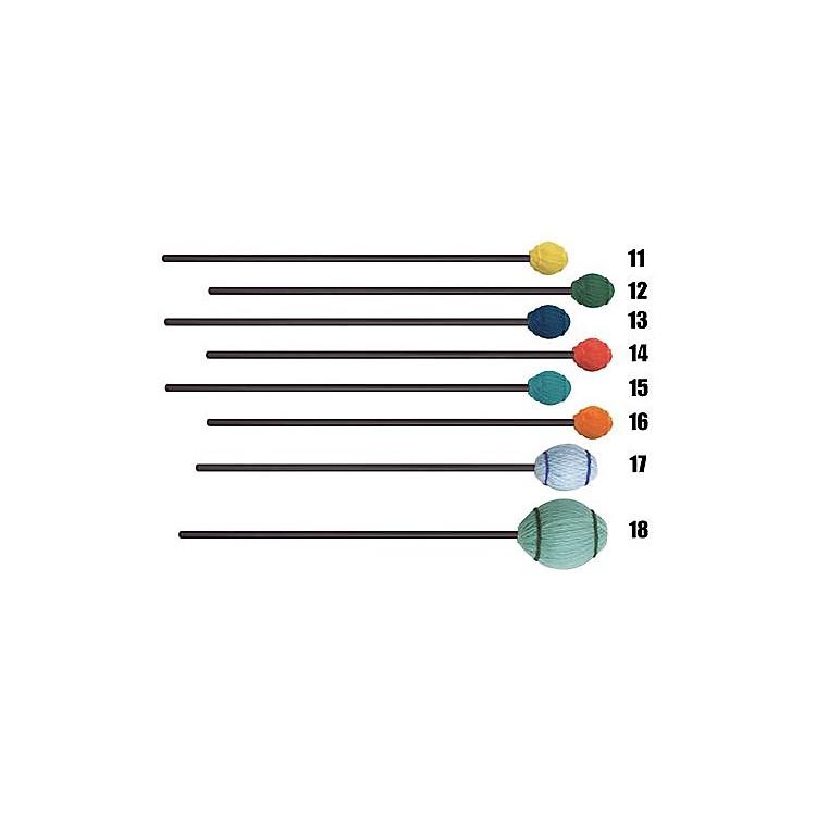 Mike BalterEnsemble Series Black Birch Marimba Mallets18 Light Green Yarn Bass