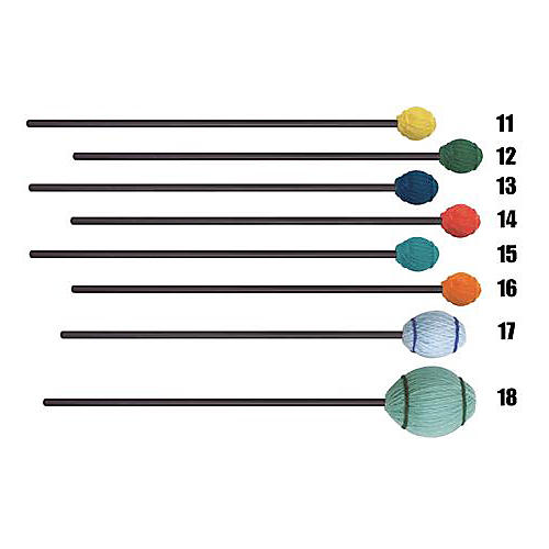 Mike Balter Ensemble Series Black Birch Marimba Mallets 15 Aqua Yarn Soft