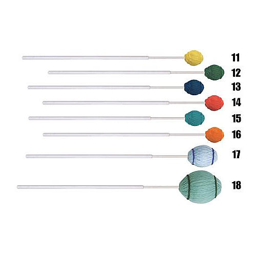 Mike Balter Ensemble Series Fiberglass Marimba Mallets 15 Aqua Yarn Soft