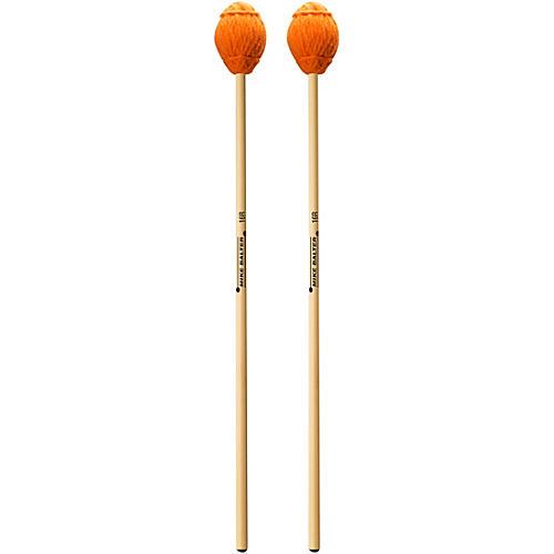 Mike Balter Ensemble Series Rattan Marimba Mallets 16 Orange Yarn, Extra Soft
