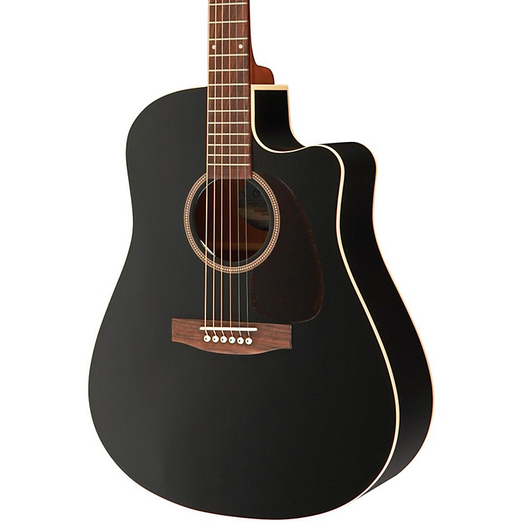Seagull Entourage CW Black GT QIT Acoustic-Electric Guitar Black