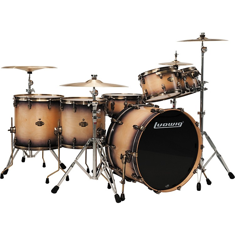LudwigEpic 6-Piece Pro Beat Shell Pack with Vintage Bronze Rims & Lugs