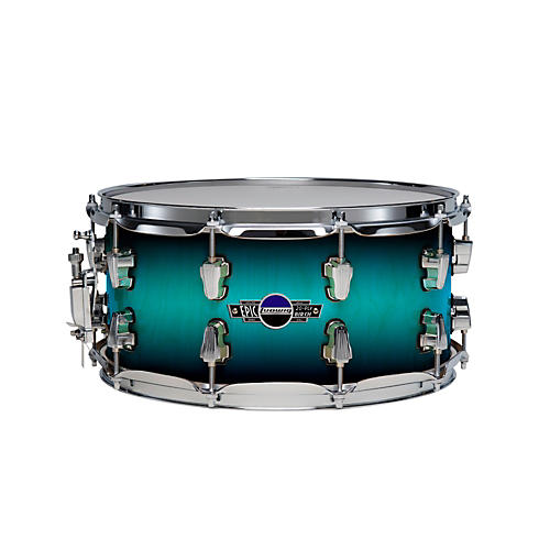 Ludwig Epic Brick 20-ply Birch Snare Drum Aqua Burst 7x14